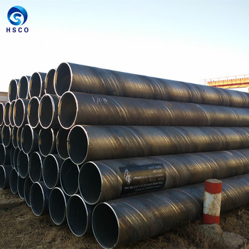 ASTM A214 AWWA C210 Spiral Welded Pipe JIS Saw Pipe SSAW steel pipe