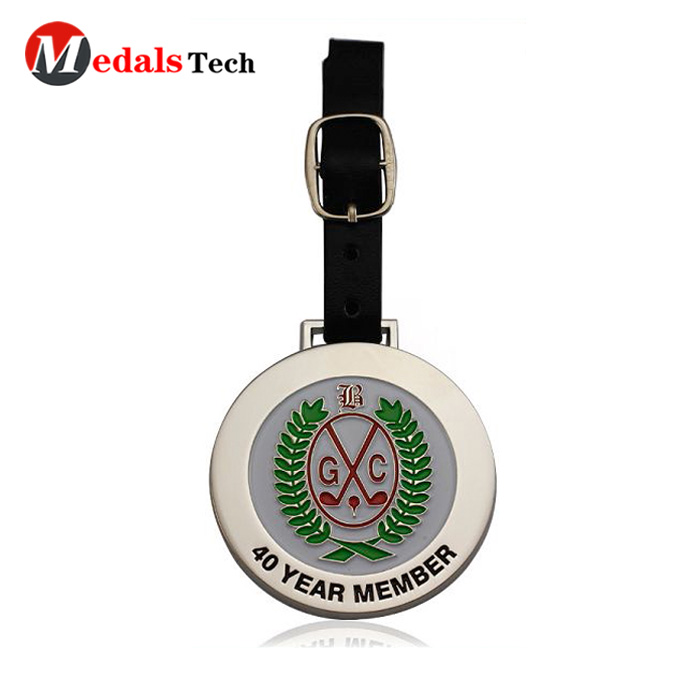 Luxury Gifts Golf Academy Club Tournament Personalized Custom Logo Golf Metal Cast Tag