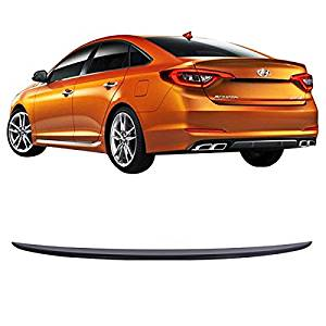 15-16 Fit For Hyundai Sonata LF Factory Style ABS Unpainted Trunk Spoiler