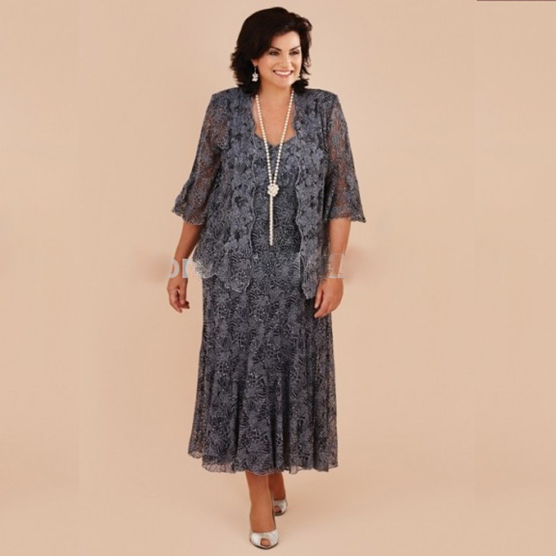 Plus Size Mother Bride Jacket Dresses