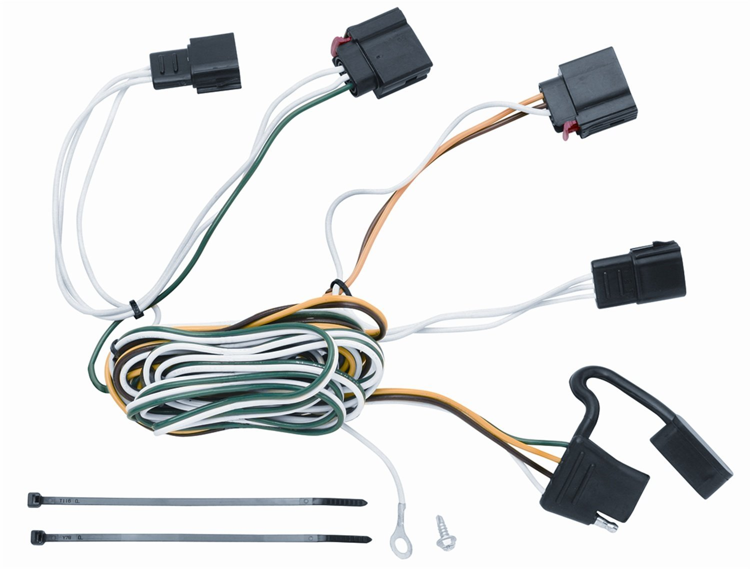 Get Quotations · Vehicle To Trailer Wiring Harness Connector For 07-12 Jeep  Grand Cherokee