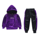 High Quality Kids Pleuche Fabric Winter Clothes Girls Boutique Clothing Set