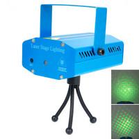 Laser Stage Lighting Mini Laser Light 110-240V Sound Active DJ Dance Studio Red & Green Stage Lighting Blue