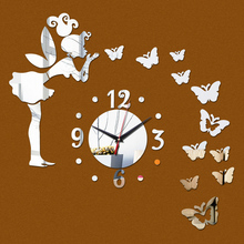 2016 Sale Acrylic Wall Sticker Mirror Stickers Still Life Adesivo De Parede Diy Home Decor Butterfly Horse Wall Clock Photo Wall