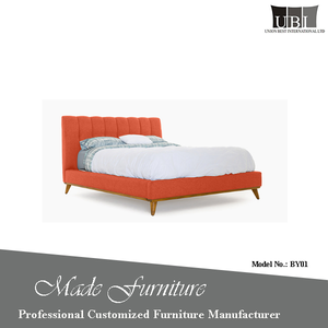High quality modern design soft bed with high back
