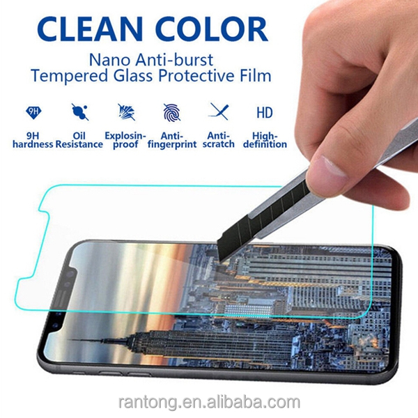 In stock ! 9h 0.33mm Anti fingerprint 2.5D tempered glass screen protector for iphone x