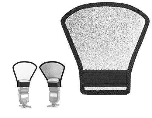 Two-Sides Flash Diffuser Softbox Silver/White Reflector for Nikon Speedlite SB series, Canon Speedlite EX series Yongnuo Speedlite YN-560 II III IV and other flashe
