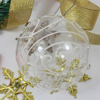 wholesale OEM clear glass christmas ball ornaments