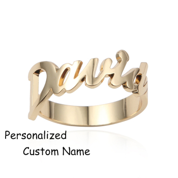 Gold Color Personalized Ring Your Name Handmade Adjustable Wedding Custom Name Ring Buy Name Ring Custom Cheap Rings Cheap Name Rings Product On