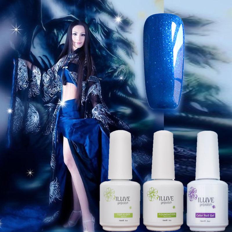 Valentine s day iLuve Fashion Florid Sapphire Blue Nail Polish 15ml Nails Gel Polish Glazed UV
