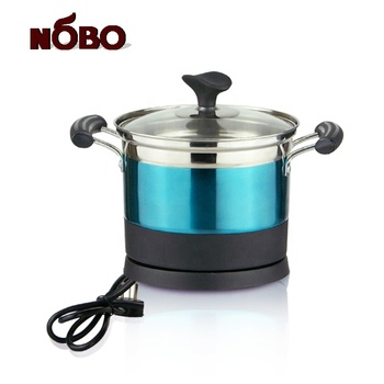 Portable home appliance stainless steel multi-function rapid noodle cooker electric caldron