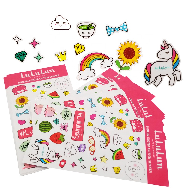 A4 A5 Hologram Sticker Sheet Vinyl Waterproof Labels,Self Adhesive Paper Labels Printing Custom Kiss Cut Sticker Sheet