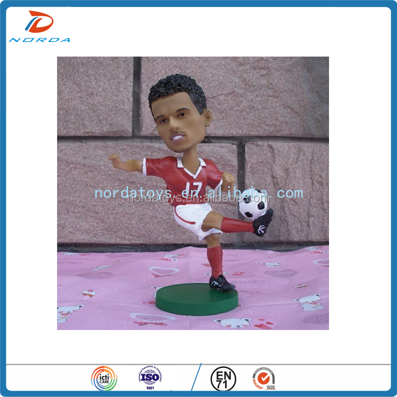 3d pvc plastic football player figures football player model