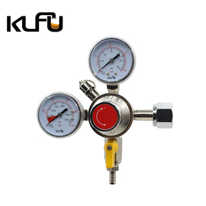 Japan keg CO2 gas regulator with double gauge