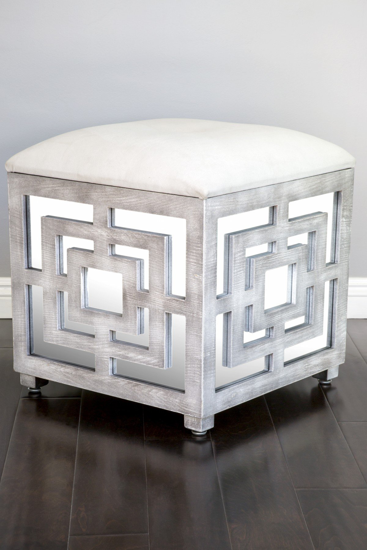 Exceptionnel Get Quotations · Statements By J DF031 Reena Mirrored Ottoman/Storage Box