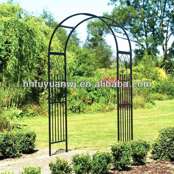 Jardin en fer forg arc m tal fantaisie boucle arbor pour for Arco decorativo jardin