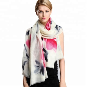 2018 Fashion shawl women 100% cashmere wool scarf