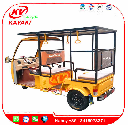 KAVAKI Factory 1000W 60V 32A power adult for passenger with solar panels electric solar tricycle taxi