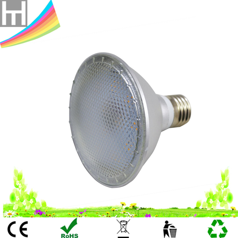 Customized red blue LED Ratio IP65 waterproof 12W Par30 E27 grow led light for outdoor garden plant