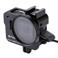 High Quality Housing Shell Protective Cage with 52mm UV Lens for GoPros HEROs/7 Black /6 /5(Black)