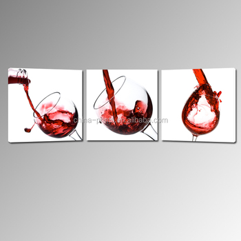 Wine Glass Stretched Canvas Printing/custom Canvas Prints Cheap/2015 ...