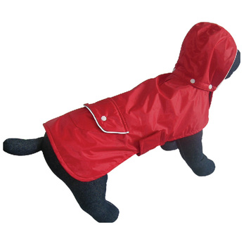 cheap beautiful fleece pet clothes dog red rain coat