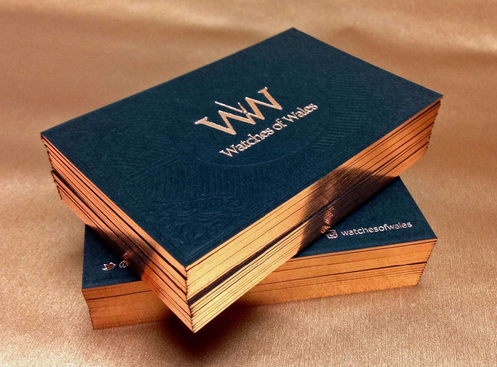 luxury rose gold foil business cardsblack paper