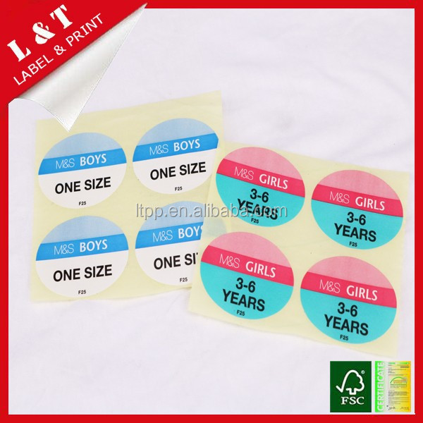 quality size sticker ,thermal sticker, paper adhesive label sticker