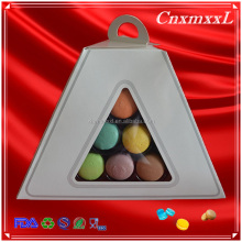 paper cover blister pyramid three layer macron stand