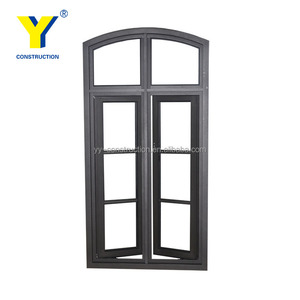 Double glazed casement window / arched casement aluminium windows with grills