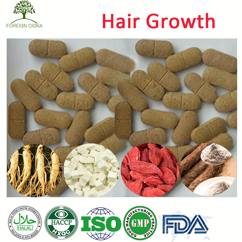 100% Guaranteed Hair Grow Wolfberry Yam Poria Cocos Extract Pills