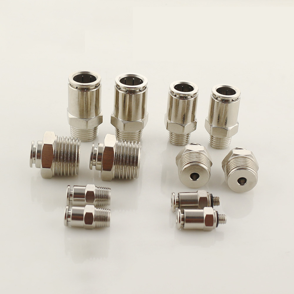 YTPC All copper nickel plating push in fitting