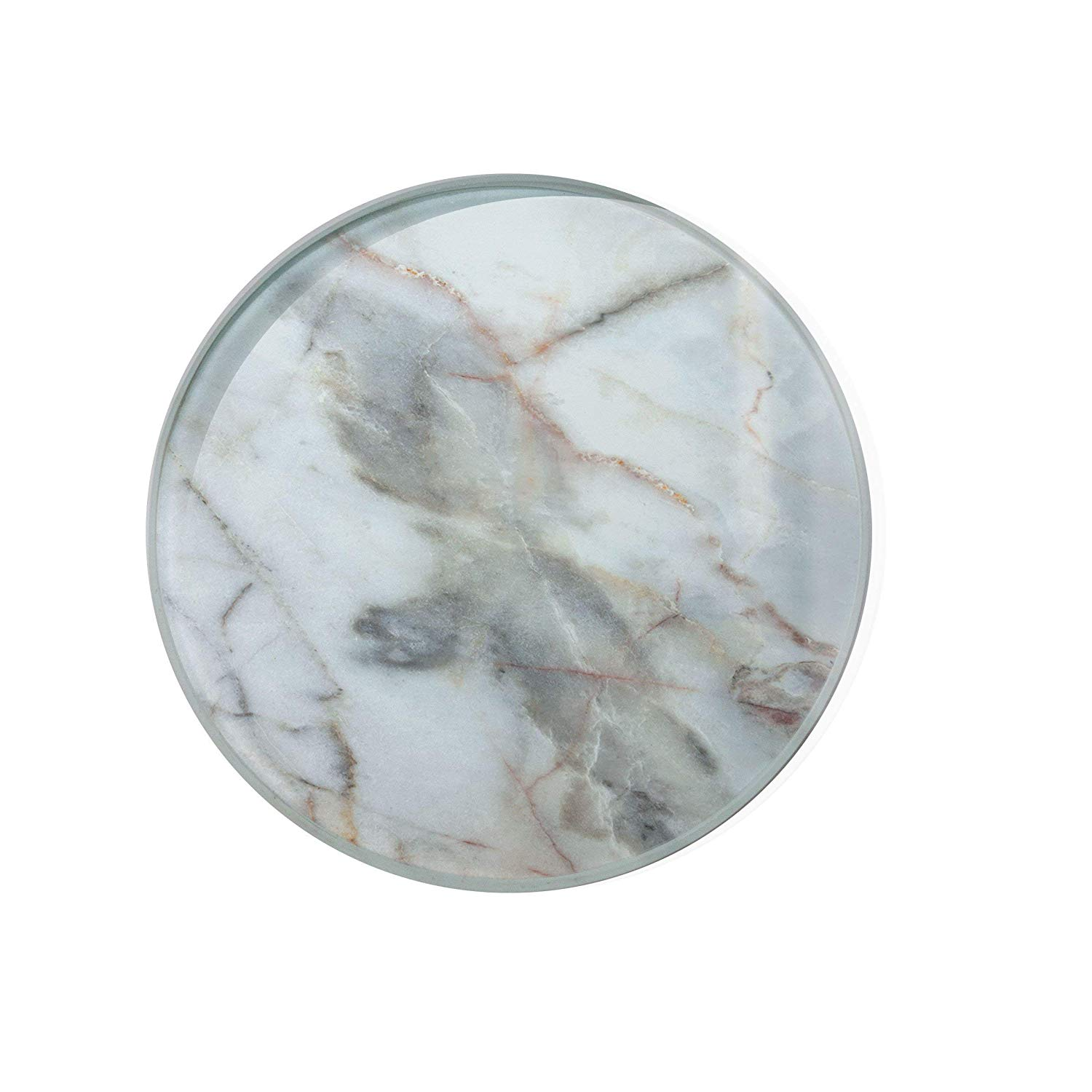 Old White Marble Glass Coaster For Drinks Housewarming Gift Coaster Drink Mat Tea Rug Coaster Tempered Glass Wine Mat Hardboard Coaster ZZ8171
