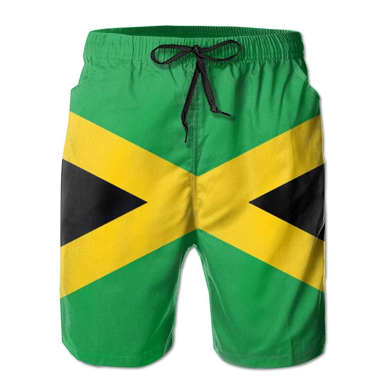 40648e7c94 Get Quotations · XunFenQi Beach Shorts Jamaican Flag Mens Fashion Surf Board  Beach Home Shorts Swim-Trunks Quick