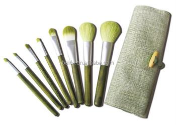 8p green tea color nylon taklon synthenic hair makeup