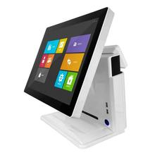 built-in VFD customer display 15 inch touch pos system