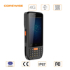 Shockproof handheld terminal rugged smartphone with 2d barcode scanner reader