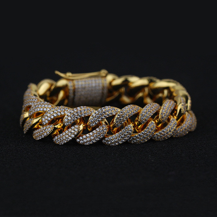 Miss Jewelry Cuban Link Gold Plated Fashion Bracelet Gold Hand Chain Design
