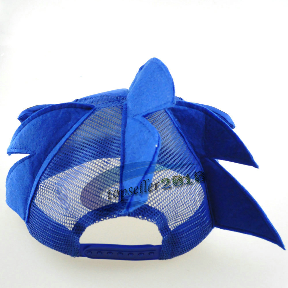 Kleidung & Accessoires Able Cute Boy Sonic The Hedgehog Cartoon Youth Adjustable Baseball Hat Cap Blue For Boys Hot Selling Customers First