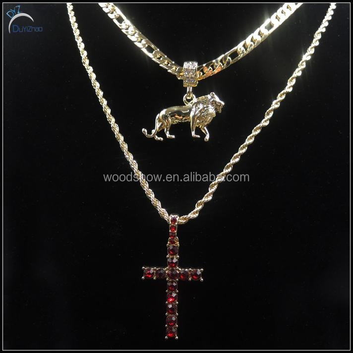 Fashion 14k gold om pendant jewelry hip hop pendant combo