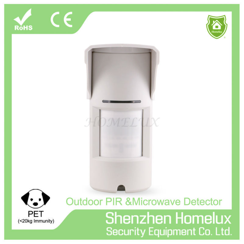 Wireless Dual Pir & Microwave Detector & Motion Sensor