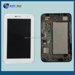 LCD screen and digitizer assembly with frame Samsung GALAXY Tab 2 7 P3100 white