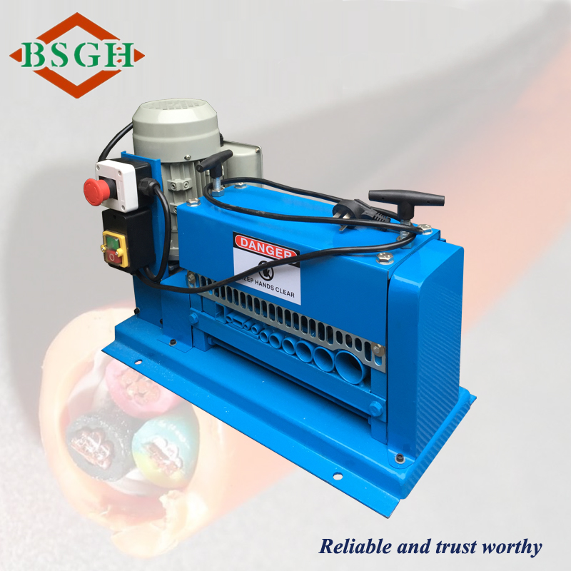 hot sales BSGH EQUIPMENT small wire stripping used machinery cable insulation removing recycling machines