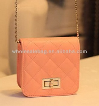 6a0a9a5a1db5 Square Small Quilted Sling Bag With Long Chain Small Messenger Bag Cross  Shoulder Bag For Girls