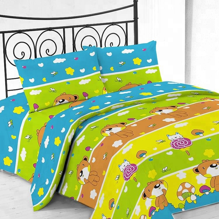 Superior quality home textile colored microfiber bedsheet set