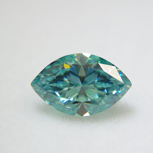 Customized loose moissanite green color 1ct for marquise cut cheap price