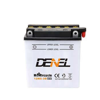 12V 5AH motorcycle battery maintenance free MF black battery