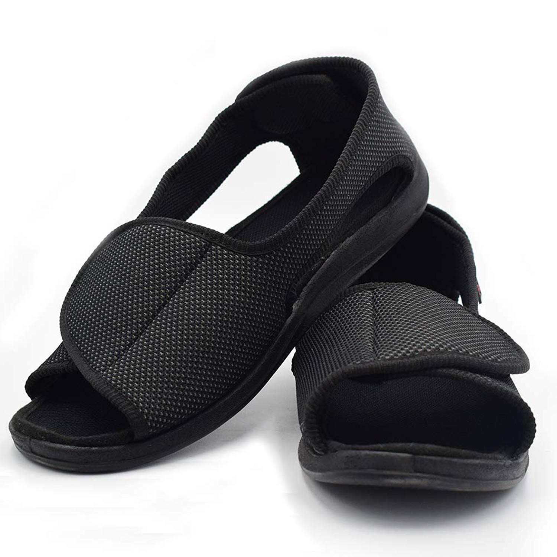 096e8bd7afe Get Quotations · Mei MACLEOD Open Toe Slipper Sandals Swollen Feet  Arthritis Edema Non Slip Shoes Women Men