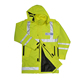 High Visibility Jacket Winter Padded Construction Workwear Patch Police Hoodies Motorcycle Jackets 3m Safety Reflective Hoodie