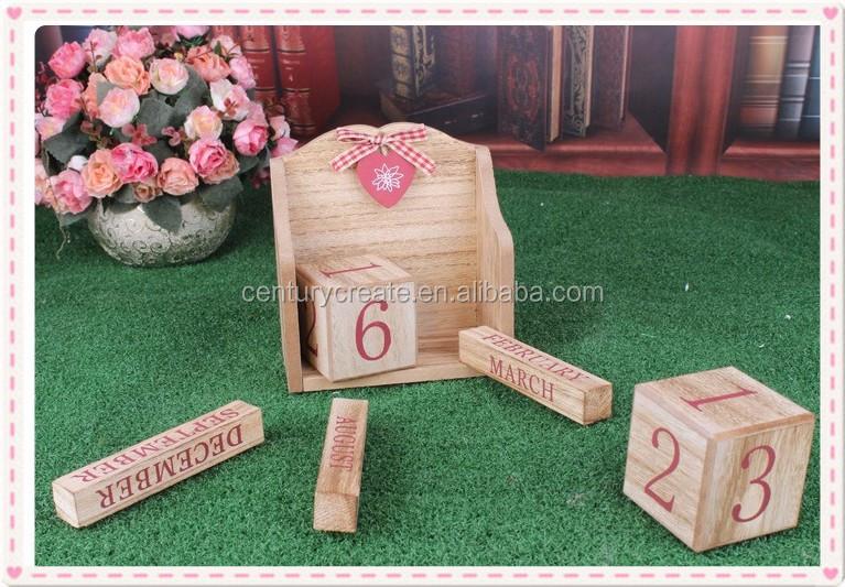 Calendario Legno Bambini.Log Colore Calendario Da Tavolo In Legno Blocchi Di Legno Per Bambini Fai Da Te Calendario Perpetuo Buy Legno Titolare Calendario Personalizzato